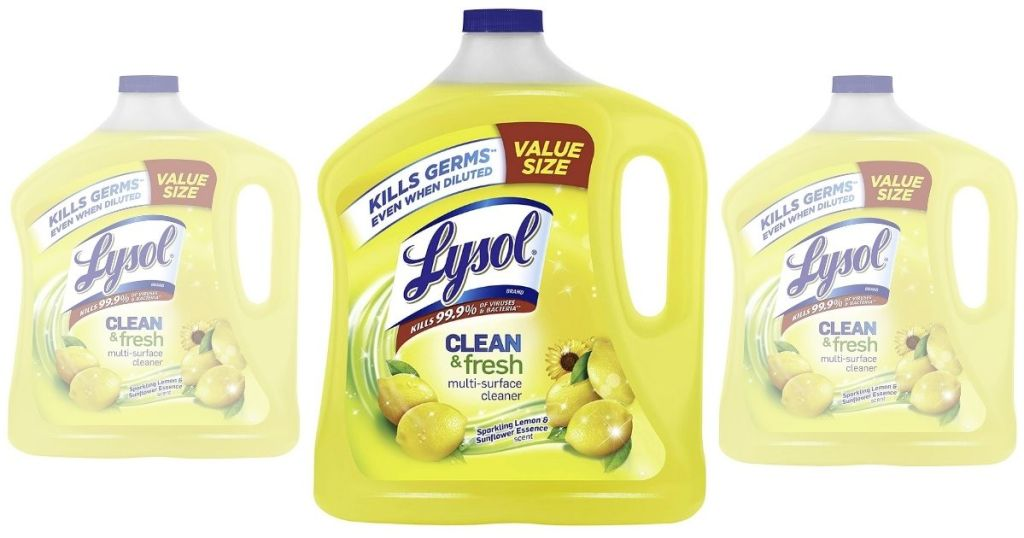 3 Lysol Clean & Fresh Value Size Cleaners