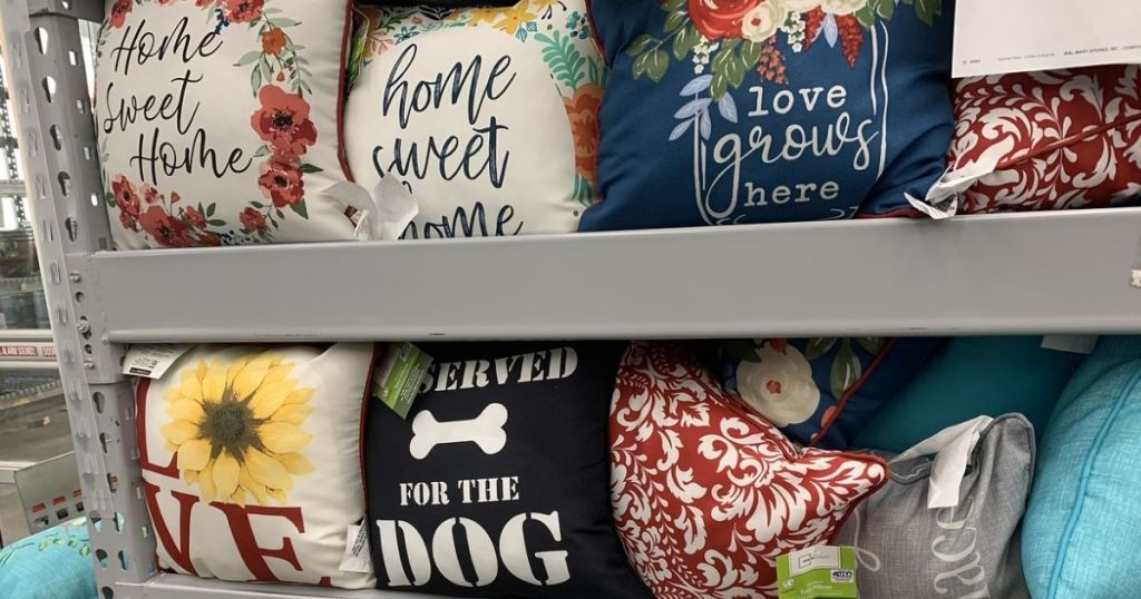 Mainstays $5 Pillows on display