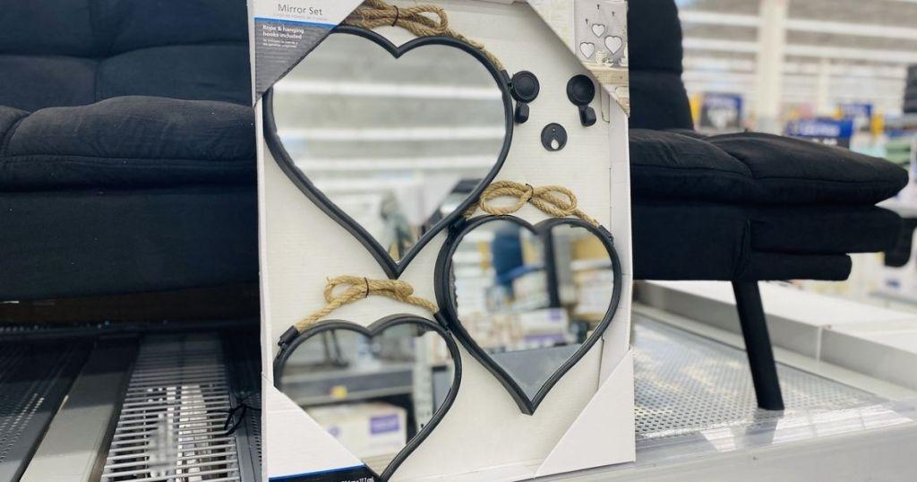 Mainstays Heart Mirror Set