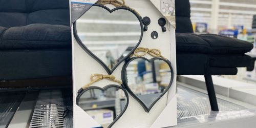 Mainstays 3-Piece Rope Heart Mirrors Set Only $14.98 on Walmart.com