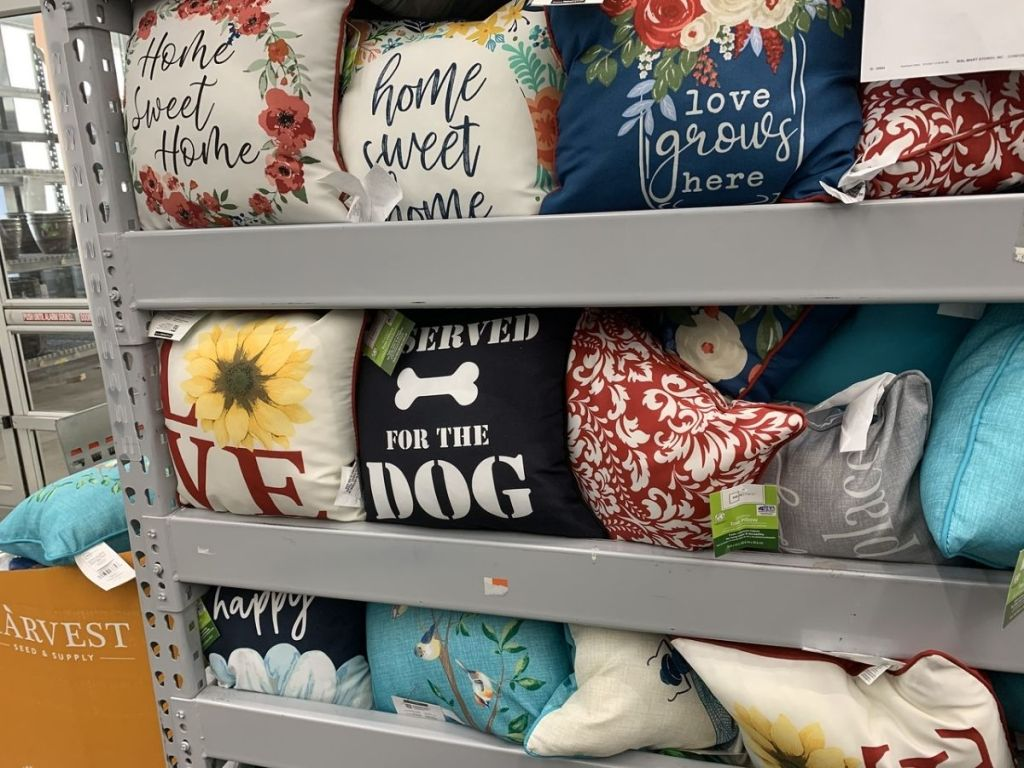 Mainstays Pillows on display