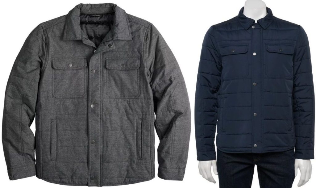 Two Marc Anthony Lightweight Quilted Shirt Jackets