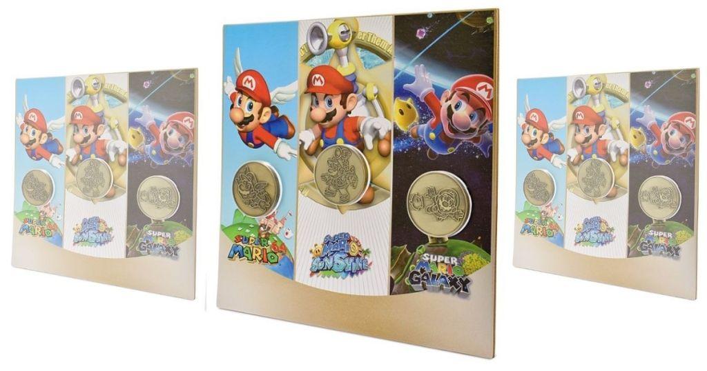 3 views of Mario Coin Collectible Set