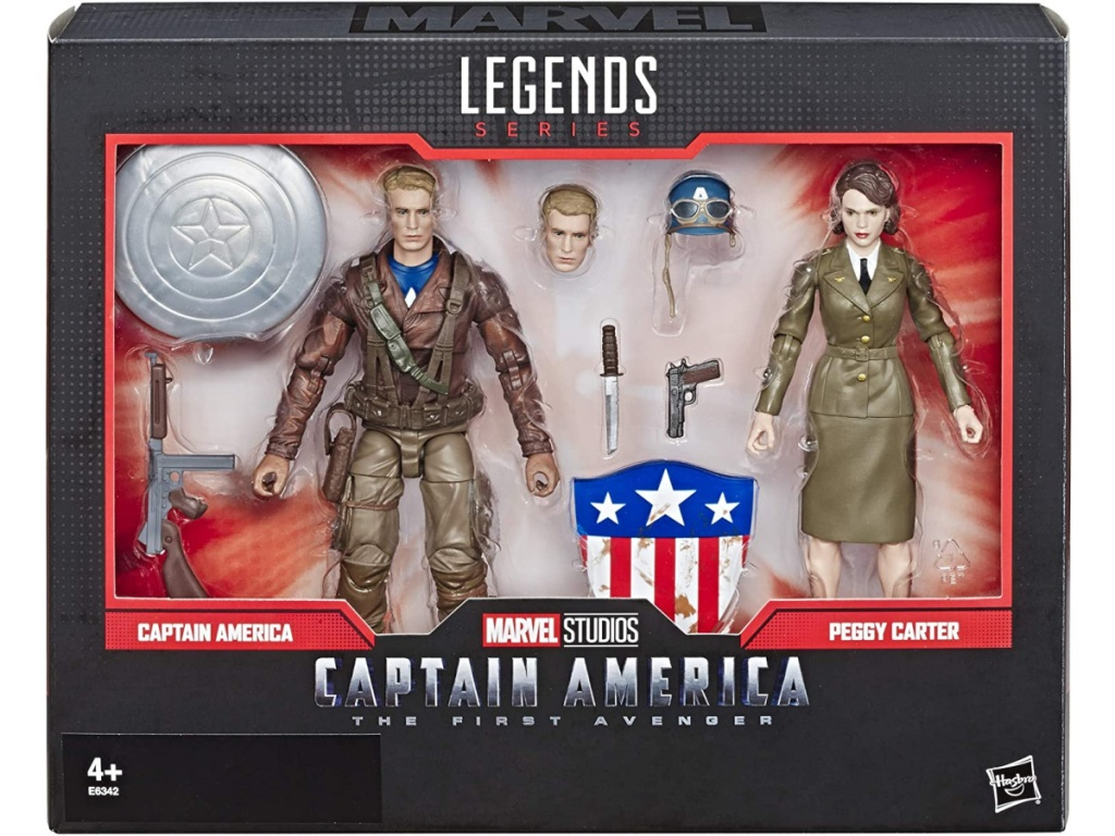 Marvel Legends Series Captain America: The First Avenger & Peggy Carter Collectible 2-Pack Action Figure