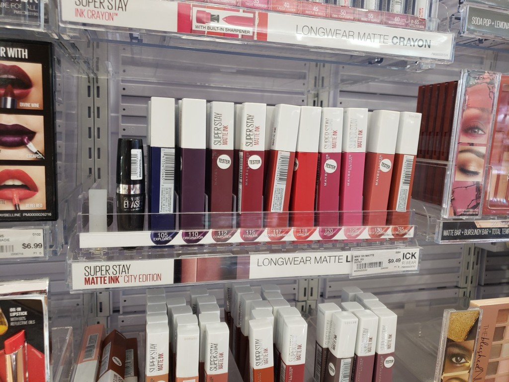 Maybelline Super Stay Lip on display at ULTA
