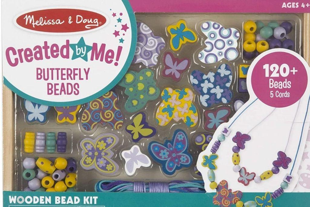 Melissa & Doug Butterfly Beads Wooden Bead Kit packaging