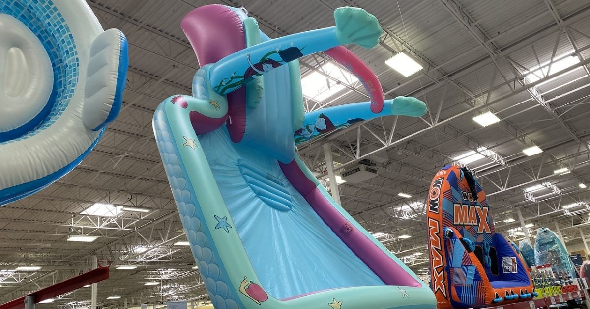 Inflatable Kids Splash Pools W Slide Only 54 98 At Sam S Club In Store Online Hip2save