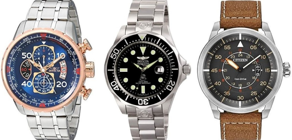 three men's watches