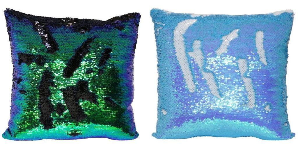 2 Mermaid Sequin Pillows