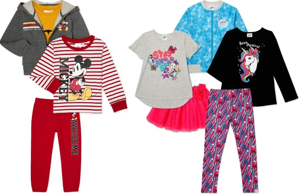 Mickey Mouse and Jojo Siwa Clothing Sets for Kids