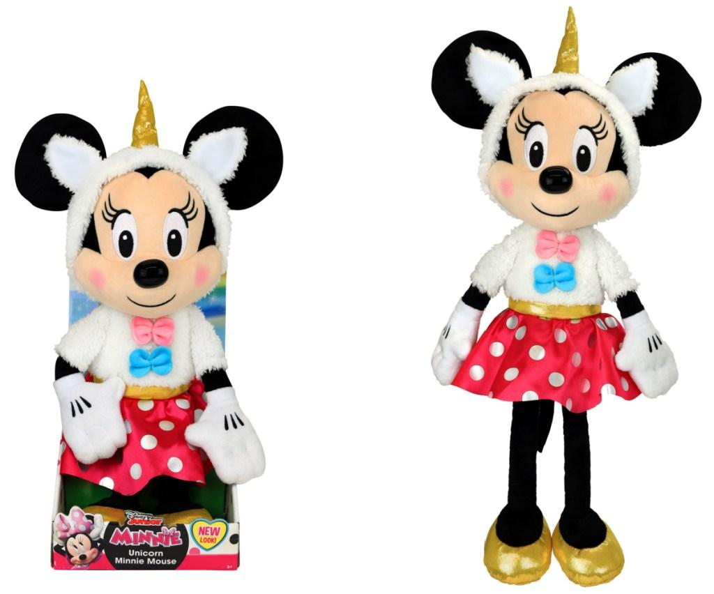 Unicorn themed Minnie Mouse plush
