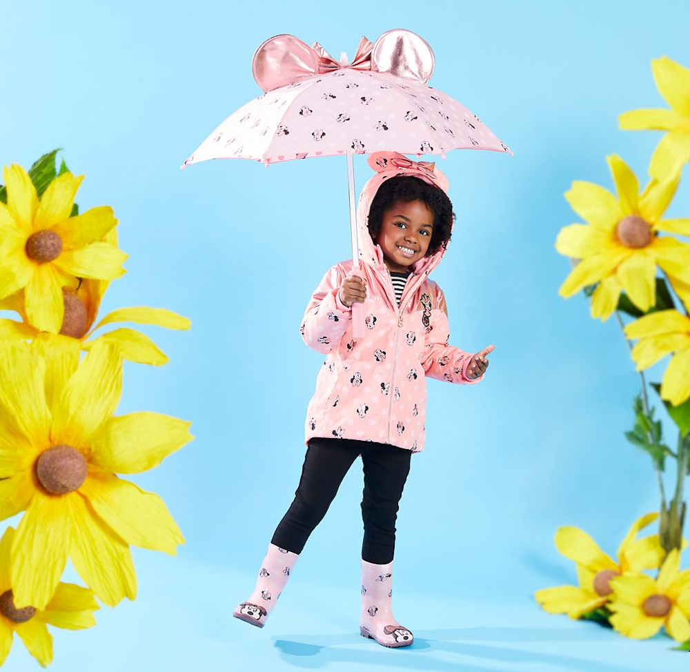 Girl Wearing Minnie Mouse Rainboots