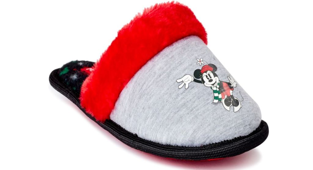 slipper with minnie mouse on it