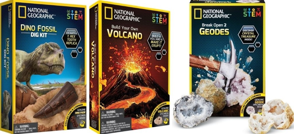three National Geographic Science Kits
