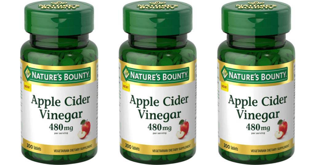 Nature's Bounty Apple Cider Vinegar bottles