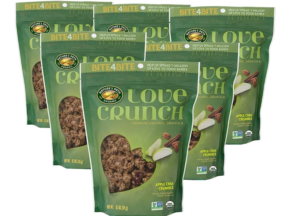 group of Nature's Path Love Crunch Apple bags