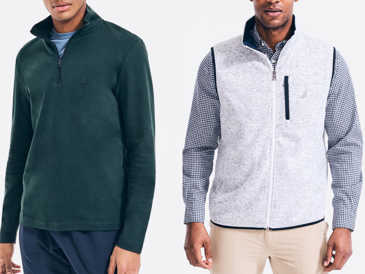 2 men in nautica clothing