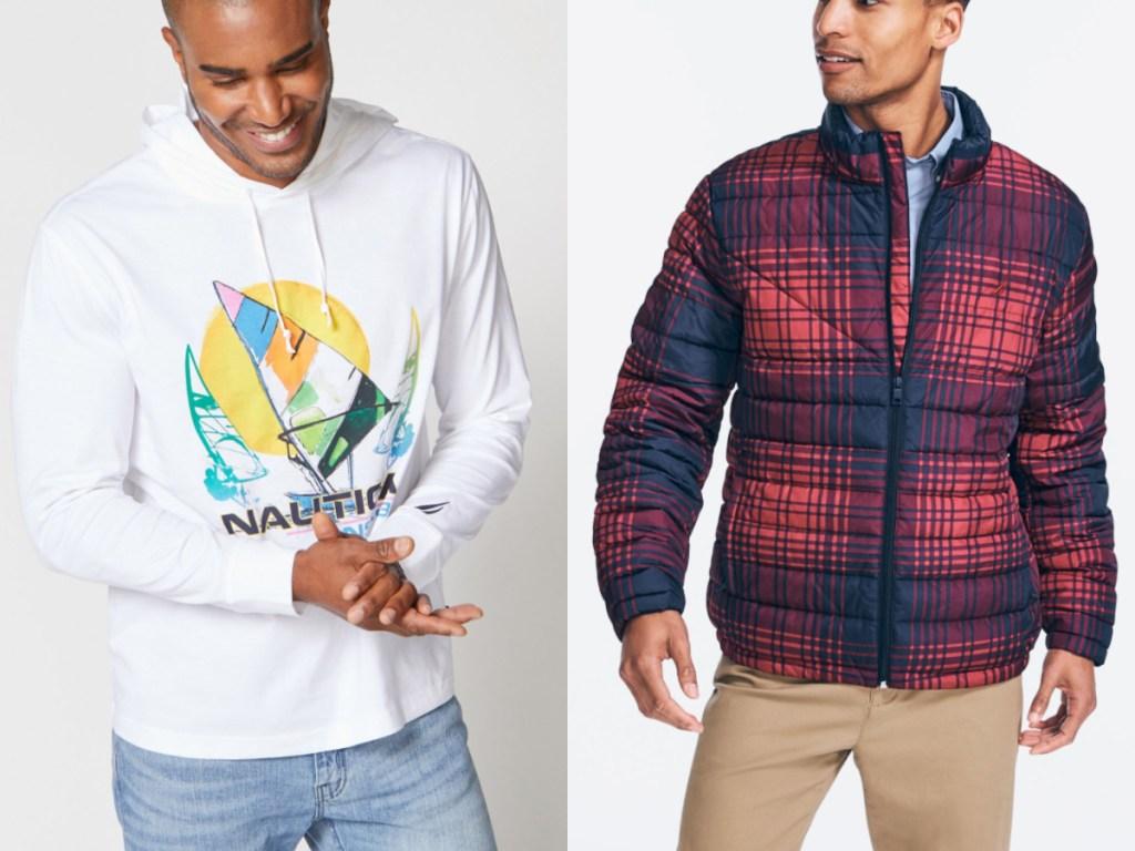 2 men wearing nautica apparel