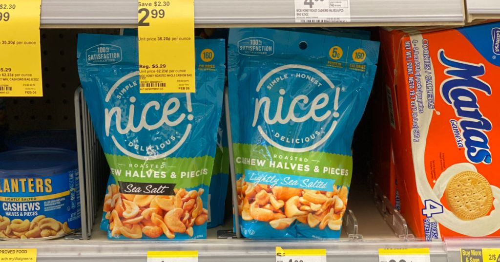 two bags of cashews