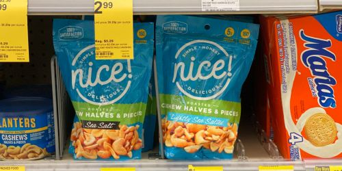 Nice! Cashews Only $1.99 Per Bag at Walgreens (Regularly $4) | In-Store & Online