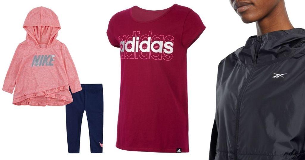 Nike Adidas Reebok Sports Apparel