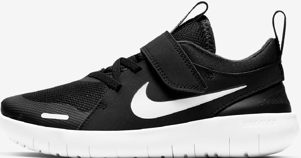 black and white nike kids shoes