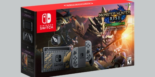 Nintendo Switch Monster Hunter Rise Deluxe Edition System Available for Pre-Order on BestBuy.com