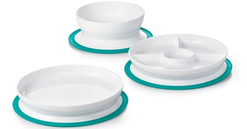 3 choices of OXO Baby Suction Dinnerwear