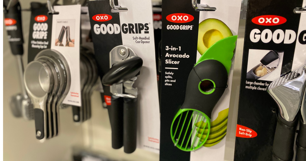 OXO brand kitchen tools on display in-store