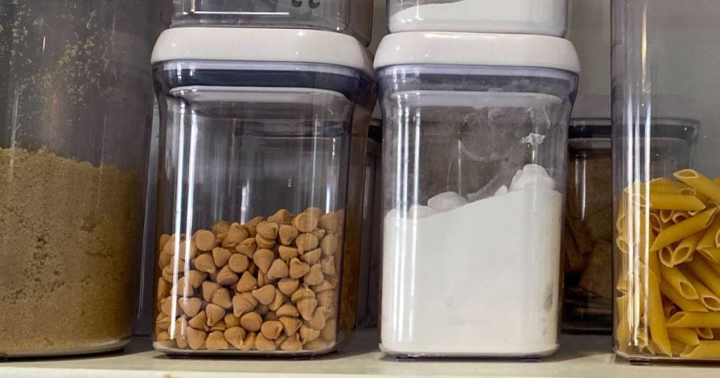 OXO small food storage container set same size side by side