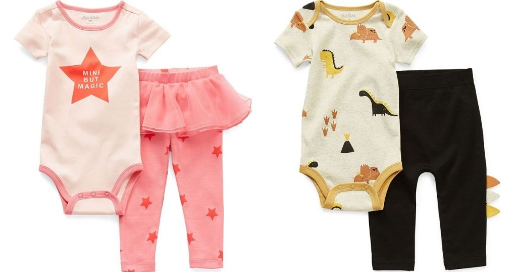 two Okie Dokie Baby Outfits