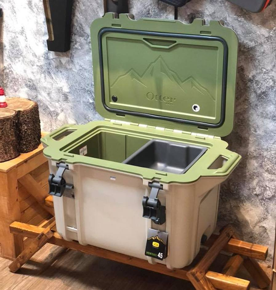Otterbox Venture Cooler shown open and empty