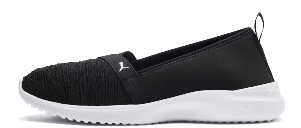 black and white ballet shoe