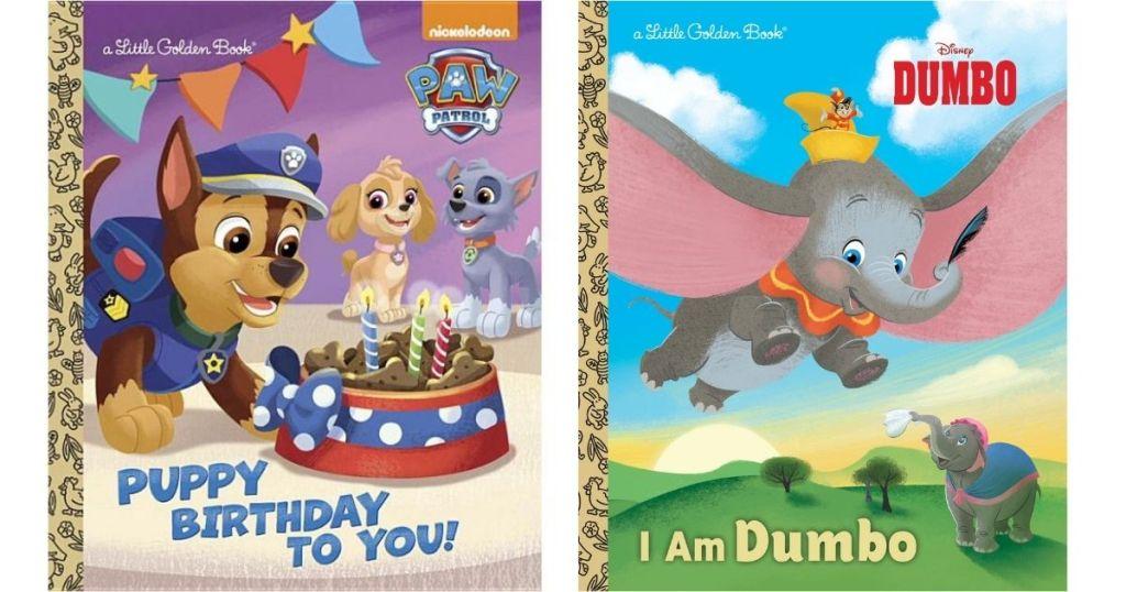 Paw Patrol and Dumbo Little Golden Books