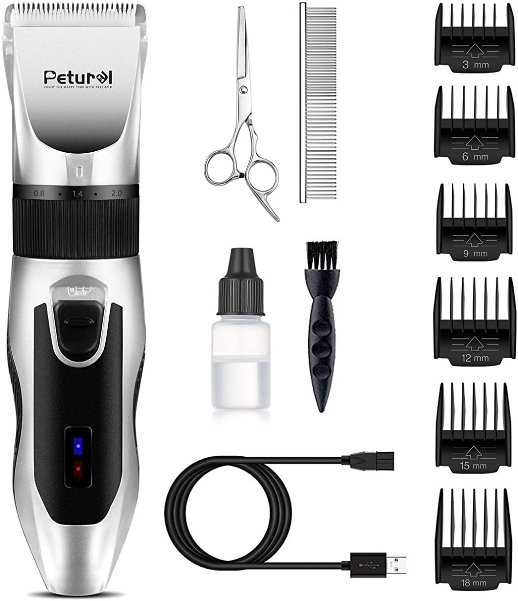 dog hair clipper and accessories