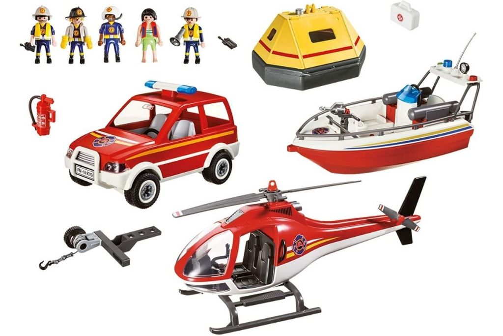 parts of Playmobil Fire Rescue Mission