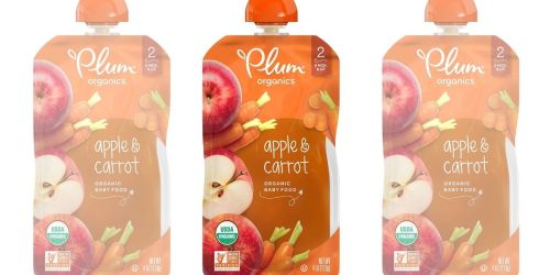 Plum Organics Baby Food Pouches 6-Pack Only $5 Shipped on Amazon | Just 84¢ Each