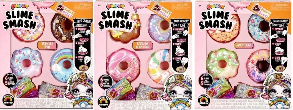 3 Poopsie Slime Smash Donuts in packaging