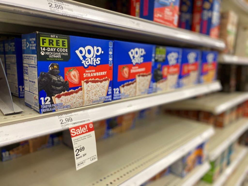 Pop-Tarts on the shelf at Target