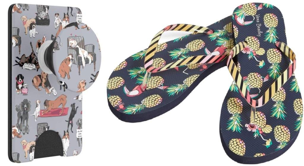 PopSockets PopWallet + and pineapple vera bradley sandals