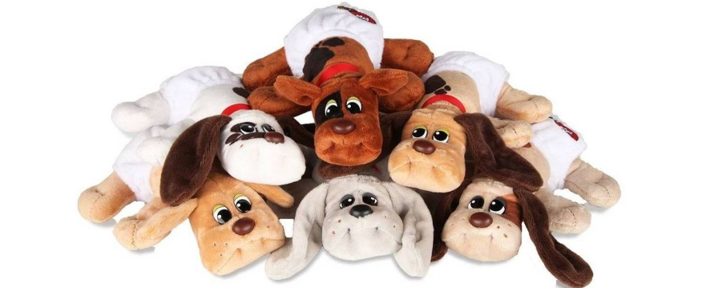 stack of Pound Puppies toys