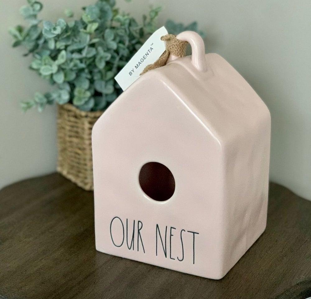 Rae Dunn Our Nest Birdhouse