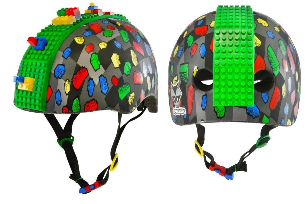 2 views of Raskullz Block Hawk Helmet