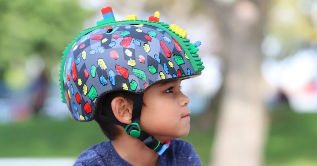 kid wearing Raskullz Block Hawk Helmet
