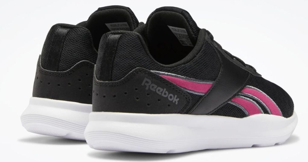 black and pink pair of Reebok Womens TR2 Training Shoes