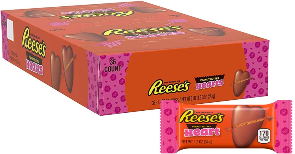 Reese's Milk Chocolate Peanut Butter Hearts 36-Count