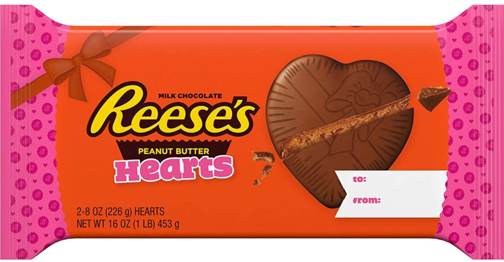 Reese's Milk Chocolate Peanut Hearts HUGE 2- 8oz Hearts