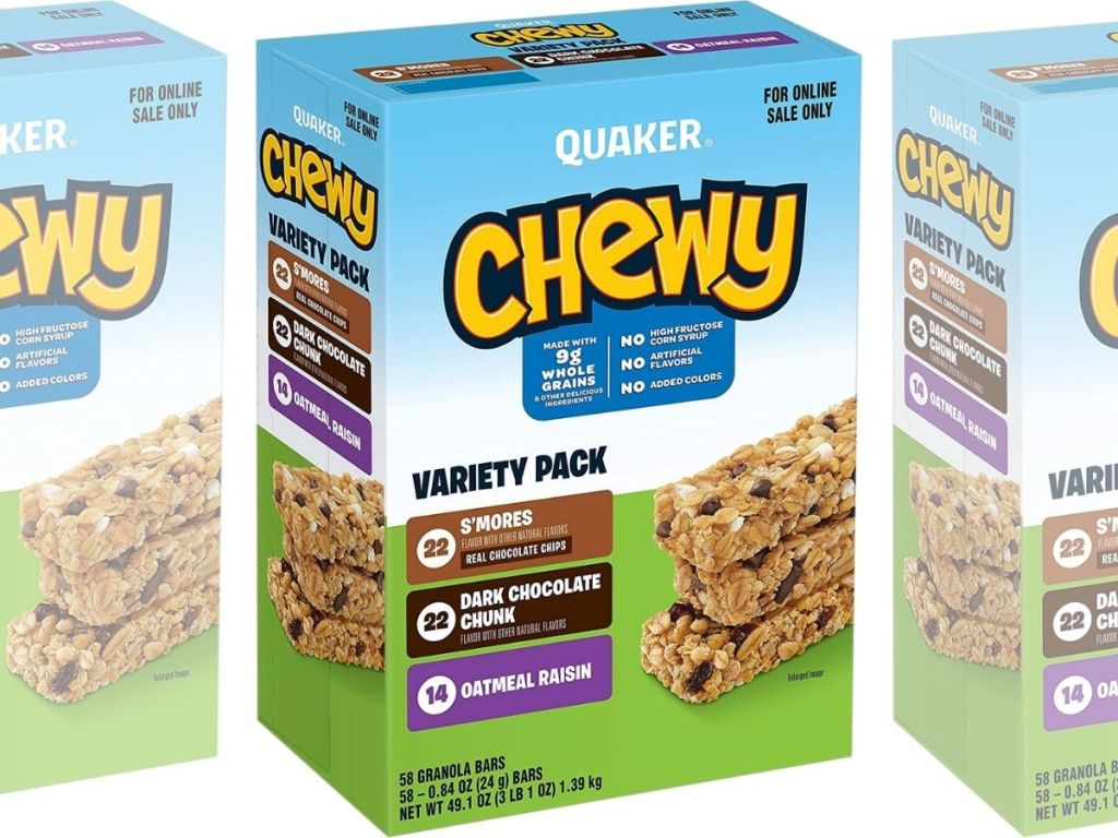 Quaker Chewy 58-count box of Granola Bars