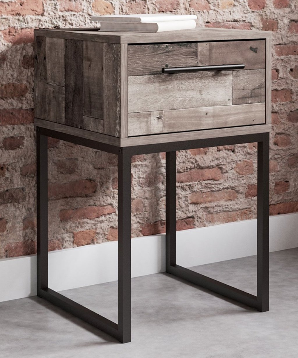 cork looking Signature Design by Ashley Furniture nightstand