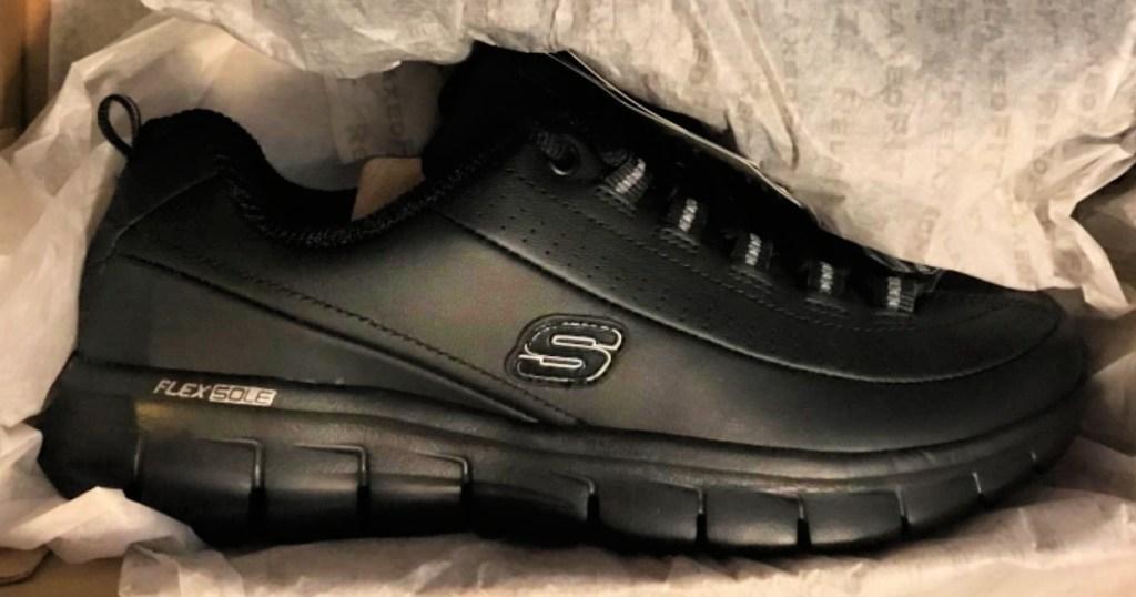 Skechers Work Sure Track Trickel Shoes in Black